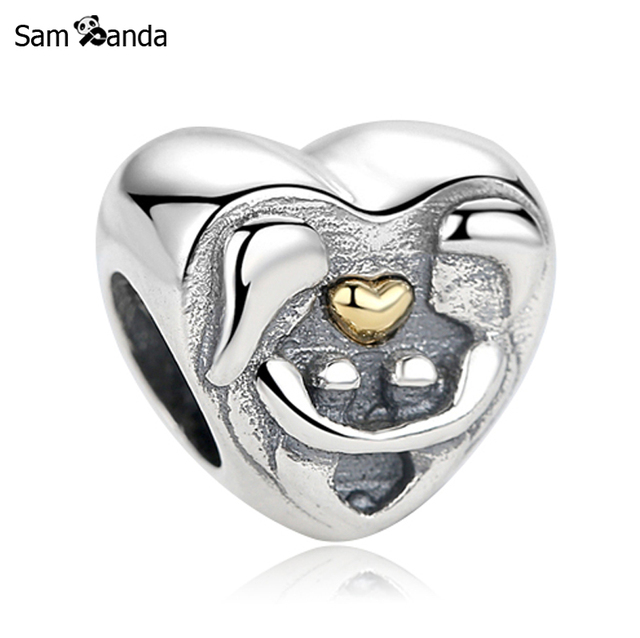 9eef0a7e9 Authentic 925 Sterling Silver Bead Charm Love Heart Family Kiss Beads Fit  Pandora Women Bracelets Bangles