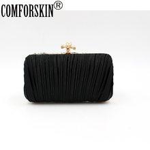 COMFORSKIN Brand Design Handmade Evening Bags Small Day Clutch With Chain Shoulder Messenger Wedding Party Bag High Quality