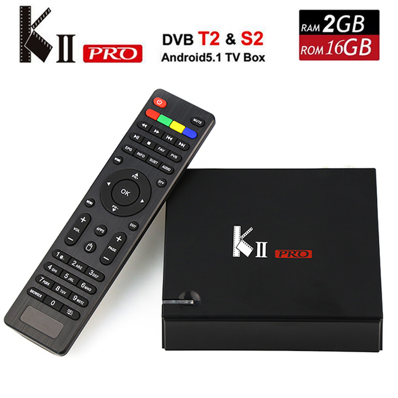 [Genuine] KII Pro Android TV Box 2GB+16GB DVB-S2 DVB-T2 KDOI Pre-installed Amlogic S905 Quad-core Bluetooth Smart Media Player android 6 0 tv box t95x amlogic s905x 2g 8g 2g 16g quad core 100lan wifi h 265 16 1 full pre installed media player box