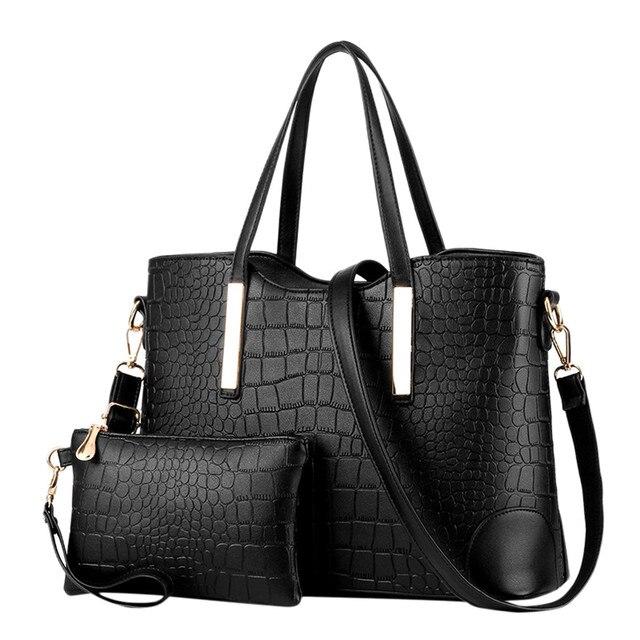 Leather Bag 2Pcs Women's...