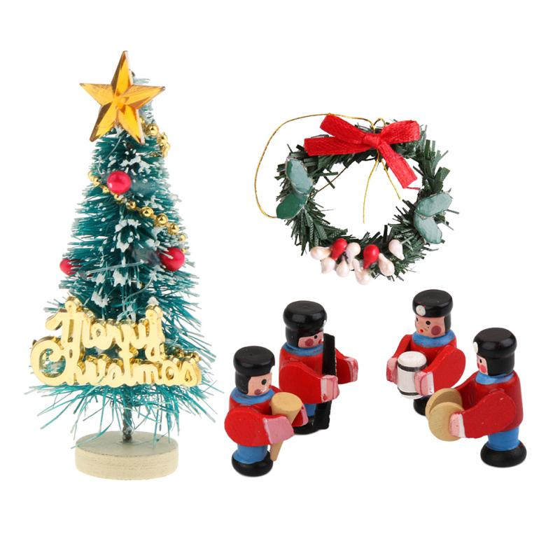 casa de muñecas en miniatura Decoración De Navidad Colgante Navidad Garland