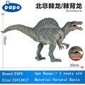 PAPO Marca Animais Brinquedos Modelo de Dinossauro Spinosaurus Jurassic Park Não-tóxico Simulação de Ação Figuras Lifelike Resina Meninos Presentes