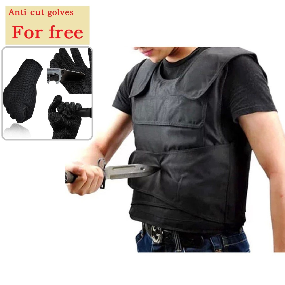 все цены на Self defense Stab-resistant Clothing Protective Vest 15 Layers Fiber Soft Liner Cut-proof Coat Police Tactical Vest 2018 онлайн
