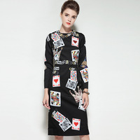 Runway Women Dress Black Print Robe Winter Boho Long Sleeve Atumn Formal Womens Sexy Party Night Club Cape Casual 2018 Dresses