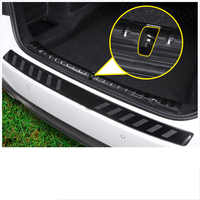 lsrtw2017 stainless steel car trunk protective panel trims for bmw 5 series 528 530 520 540 535 g30 g31 2018 2019