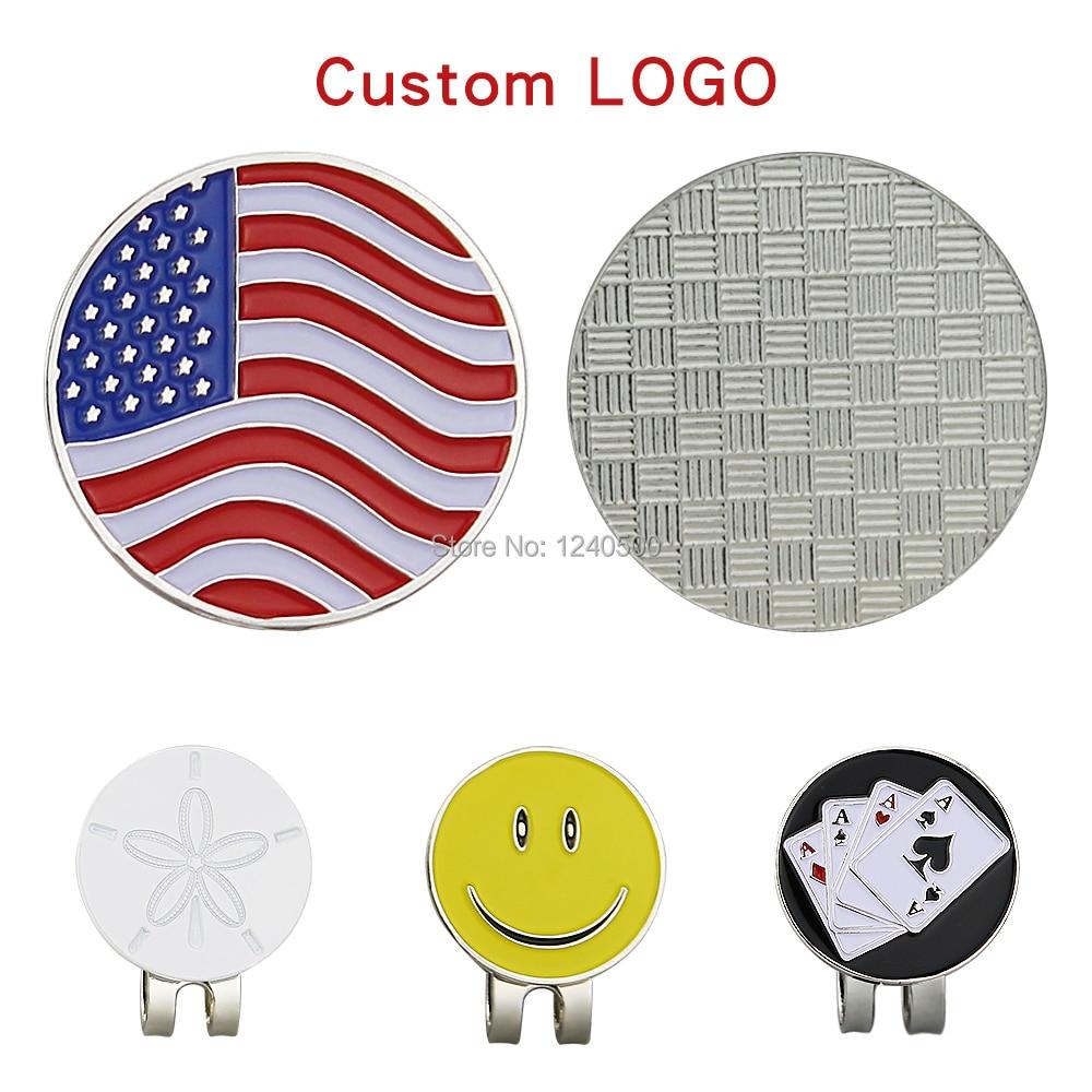 100 Sets Custom Logo Golf Ball Mark W Magnetic Golf Hat Clip 24mm Custom Marker Wholesale