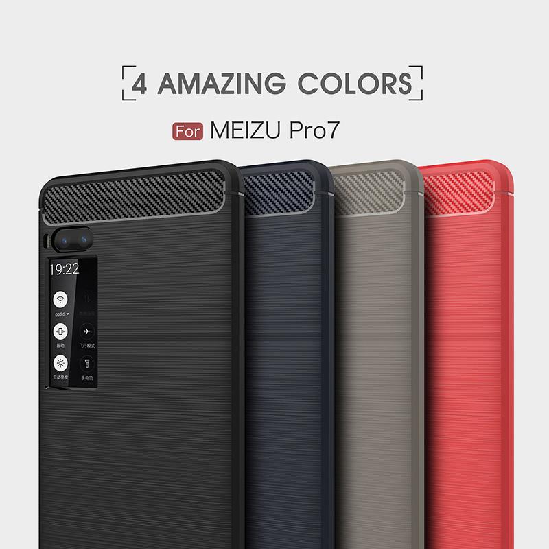carbon fiber silicon case meizu pro 7 (8)