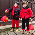DFXD Children Clothing Set Winter Baby Boys Girls Chinese Style New Year Tang Suit Thick Sweatshirt 2pc Set Kids Clothing 2-7Y