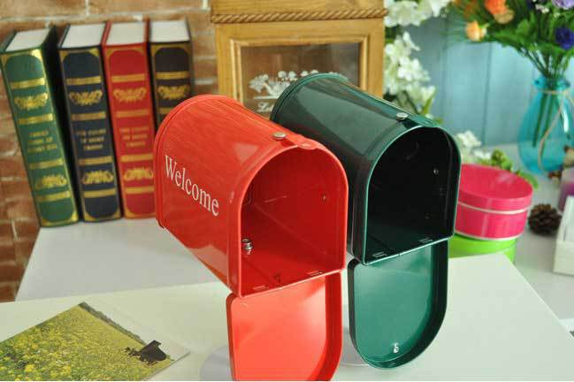 New Arrival Zakka Photo Props/home Decoration Mailbox With Stand/ Storage For Letter Box /greeting /post Card Free Shipping