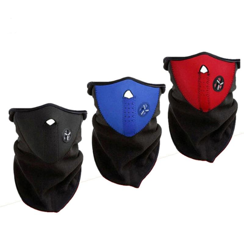 Outdoor Cycling Masks Warm Fleece Bike Half Face Mask Dust N…