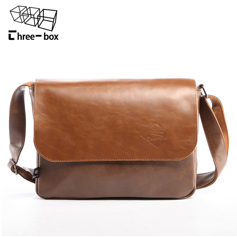 Three-box 2017 New Vintage Casual Brand Men Bags Lether Crossbody Shoulder Bags Korean Famous Men's Messenger Bag Male Bolsas three 100ml