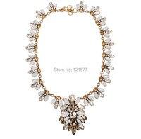 Luxury Fashion Statement Glass Leaf Bib Necklace Grey Fringe Pendant Costume Jewelry Christmas Gifts N0126