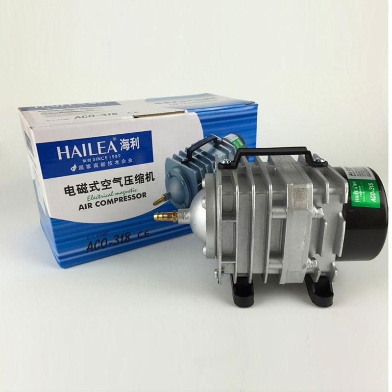 에어 펌프 220 v 45 w 70l/min 공기 산소 펌프 수족관 전자기 공기 압축기 산소 물고기 탱크 hailea aco 318 freeshipping-에서공기 펌프 & 액세서리부터 홈 & 가든 의  그룹 1