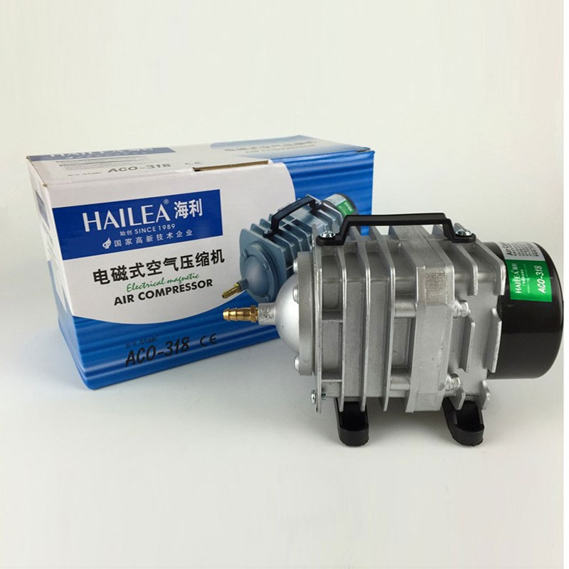 Air Pump 220V 45w 70L/min Oxygen Aquarium Electromagnetic Compressor Fish Tank Hailea ACO 318 Freeshipping