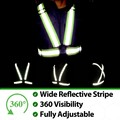 Reflective Clothing Chaleco Reflectante 360 Degrees High Visibility Neon Safety Vest Reflective Belt Running Cycle Sport Outdoor
