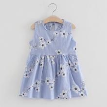 купить Baby Dress 2019 Fashion Girls Toddler Summer Sleeveless Princess Dress Kids Baby Party Wedding Dresses по цене 225.35 рублей