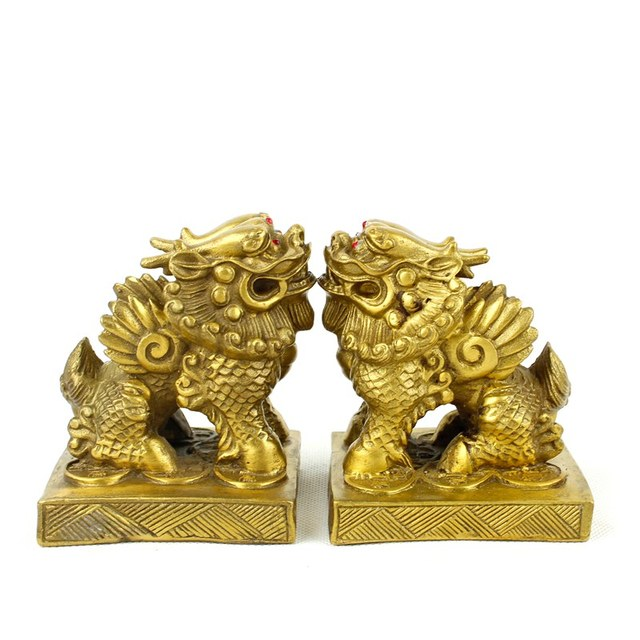 Copper double pi xiu decoration lucky home decoration