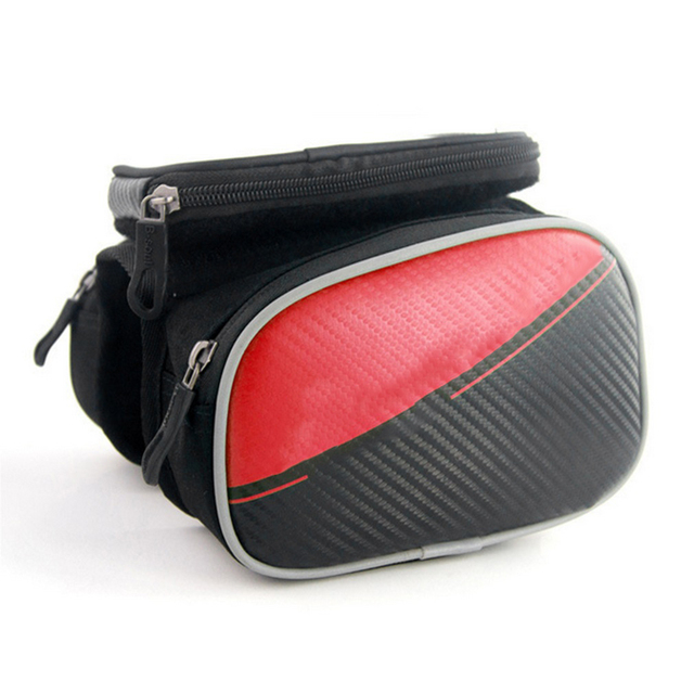 5.5inch Bike Bags Cycling Frame Pannier Front Tube Bag For Cell Phone Bicycle Pannier for iPhone Bike Accessories