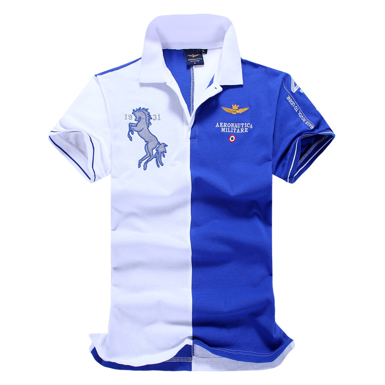 2018 Summer Air Force One Top Quality Embroidery Men's Aeronautica Militare   Polo   Shirt Hombre Manga Corta Camisa   Polo   Masculina