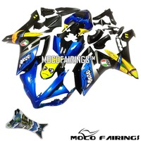 Motorcycle ABS Injection Plastic Fairing Kit For Yamaha YZF R1 2007 2008 YZF R1 07 08 Shark Eyes Decals Fairings Bodywork BLUE