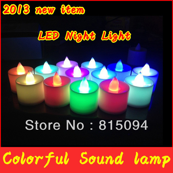 Innovative Items 24pcs/lot LED Lovely Candle 7 Color Change Good Night Light ,Night Good Looking