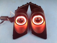 New Innovative CCFL Angel Eye daytime running light + halogen Fog Light Projector Lens for Legacy 2007-09, 2 pcs