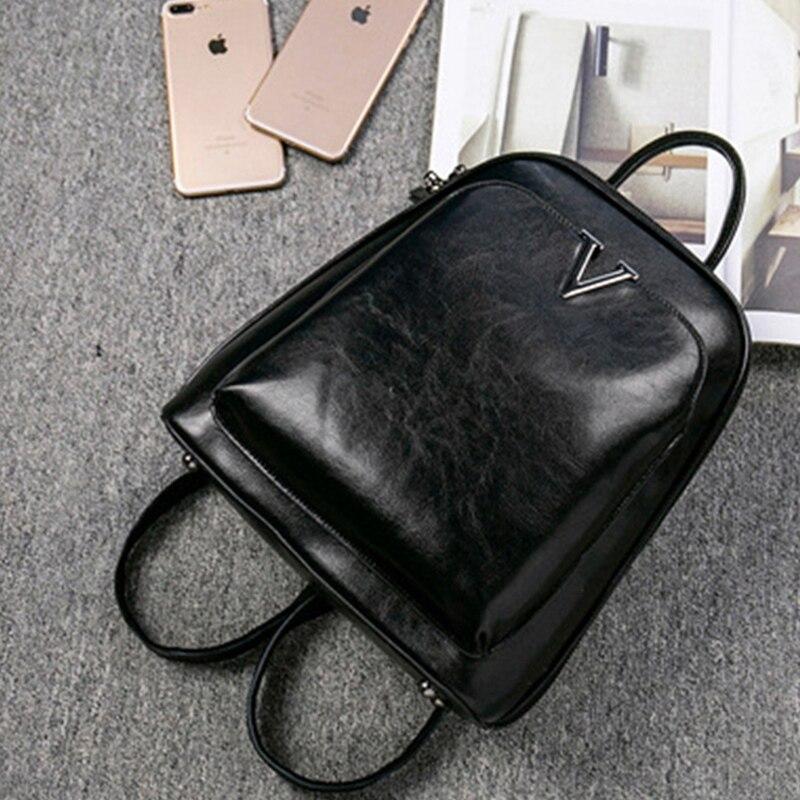Auau-oil cire cuir dames sac à dos sac à bandoulière en cuir école sac à dos mode rétro femme sac à dos