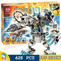 629pcs Icebites Claw Driller Mech Robots Blaster Bike CHI 10355 Figure Building Blocks Assemble Toys Compatible with LegoING