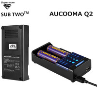 AUCOOMA Q2 LCD Intelligent USB Charger For AA AAA Ni MH Ni Cd 16340 18650 14500