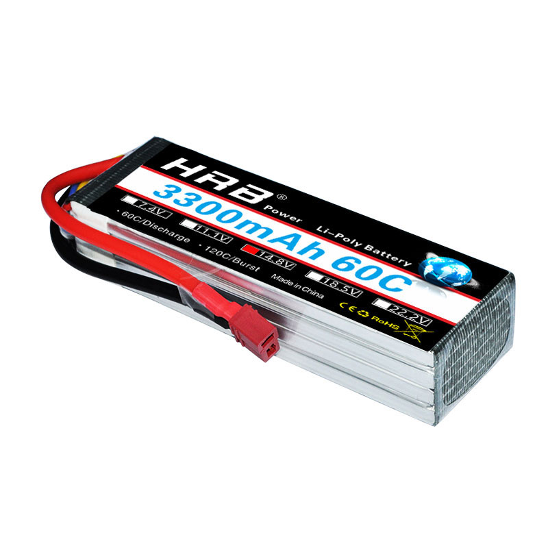 HRB Lipo 4S 14.8V Battery 3300mah 60C MAX 120C RC Bateria Drone AKKU For Slash VXL Slash RC Model Airplane Quadcopter Boat UAV 2pcs yowoo lipo 4s 14 8v 5000mah 60c max 120c battery for rc bateria drone akku helicopter quadcopter car airplane boat uav fpv