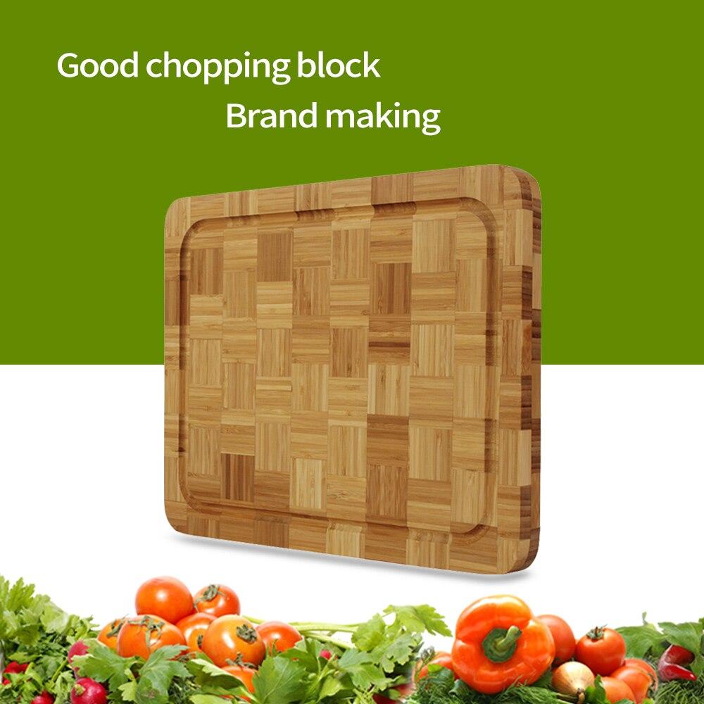 Бить плаху дерево кухонная разделочная доска 13,6 Большой размер семьи и ресторан, используемые с капельным канавка Кухня инструмент