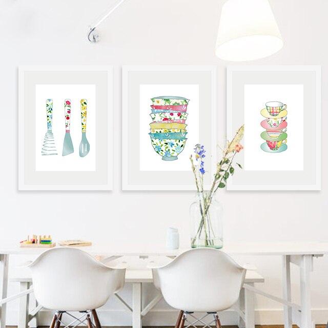 Dapur Digital Print Poster Art Kanvas Lukisan Gambar Dinding Restoran Dekorasi Rumah Antik