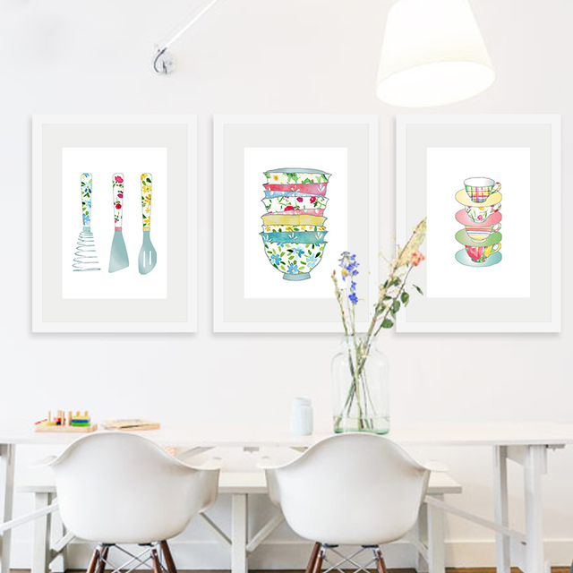 US $9.62  Küche Digitaldruck Poster Kunst Leinwand Malerei Wandbild Küche  Restaurant Wohnkultur Vintage bilder in Küche Digitaldruck Poster Kunst ...