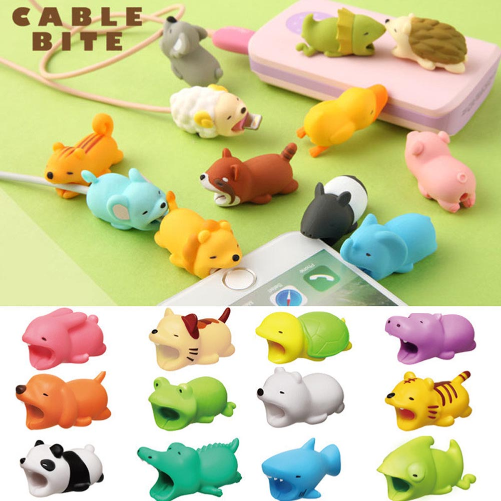New Hot Cable Protector Cute Animal Shape Prevents Breakage Cable Protects For IPhone