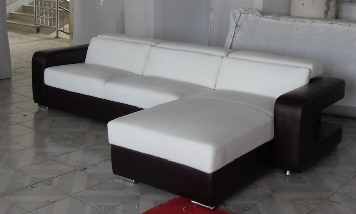 Free Shipping 2013 New Modern Design Small L Shaped Corner Genuine Leather  Sofa LC9100 In Living Room Sofas From Furniture On Aliexpress.com | Alibaba  Group