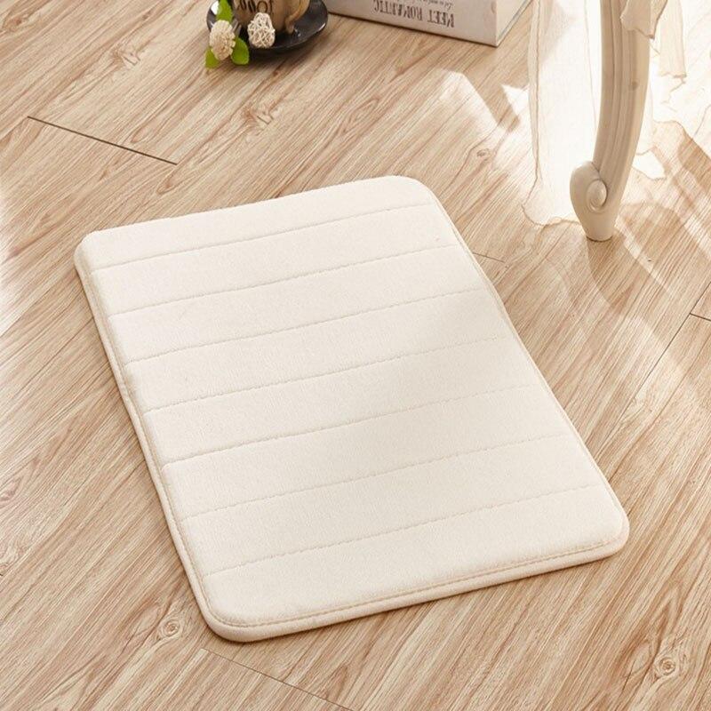 Nordique Simple ménage épais corail polaire tapis rayures verticales mémoire coton tapis salle de bain tapis