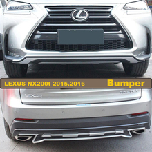 Bumper Protector Guard Skid Plate For LEXUS NX200t 2015.2016.High Quality Brand New ABS Front+Rear Bumpers Car Accessories