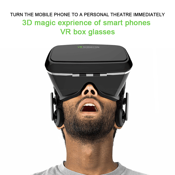 Montaje de la cabeza Google cartón Shinecon realidad Virtual 3d Movie Game óculo Rift gafas para