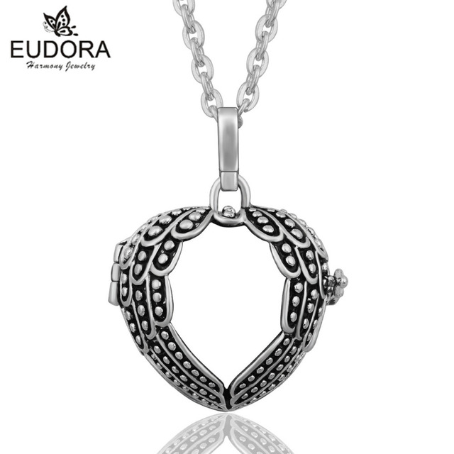 Eudora vintage style heart floating locket cage angel caller pendant eudora vintage style heart floating locket cage angel caller pendant charm for pregnancy women baby jewelry mozeypictures Choice Image