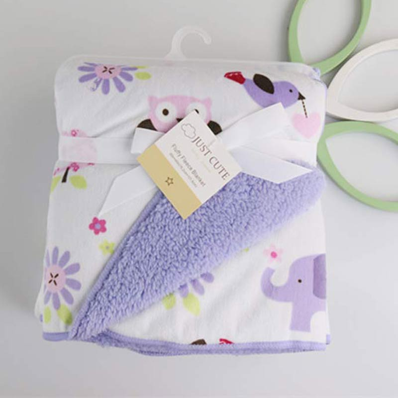 2016 New Thicken font b Double b font Layer Baby Blankets Fleece Infant Swaddle Envelope font