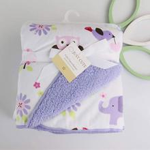 2016 New Thicken Double Layer Baby Blankets Fleece Infant Swaddle Envelope Stroller Props For Newborns Baby Wrap Bedding Blanket