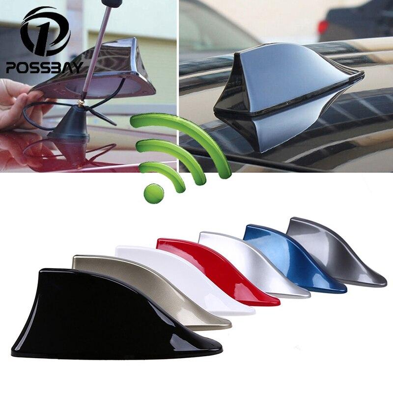 Antenne d'aileron de requin de voiture POSSBAY antennes de toit d'antennes automatiques de Signal Radio pour le style de voiture de BMW/Honda/Toyota/Hyundai/VW/Kia/Nissan
