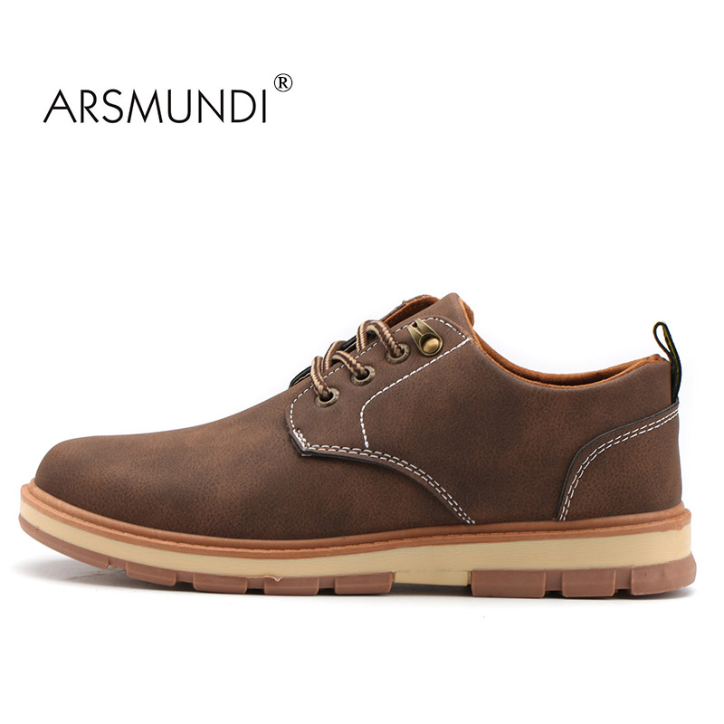 ARSMUNDI Men Casual Shoes TM-T110 Autumn 2017 Casual Shoes Breathable Waterproof Retro Comfortable Casual Shoes Brand Designer
