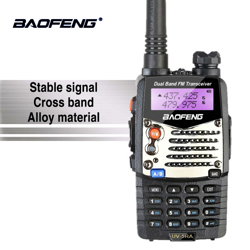 Baofeng UV-5RA Talkie Walkie Alarme LED lampe de Poche Deux Radios Bidirectionnelles À Double Bande Jambon Hf Émetteur-Récepteur Baofeng UV-5R Amélioré Interphone