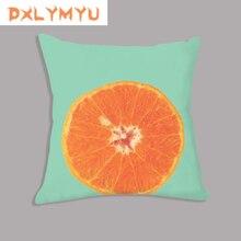 Sofa Cushion Kiwi Fruit Orange Avocado Prints Decorative Home Decor Throw Pillow Velvet Pillowcase 45x45 cm