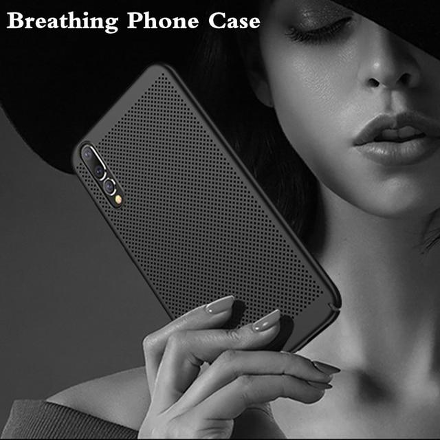 Xwmkai Breathing Phone Case For Huawei P10 20 Lite Pro Plus Ultra-thin Breathable Heat Dissipate Cooling Back Cover Case Nova 3E