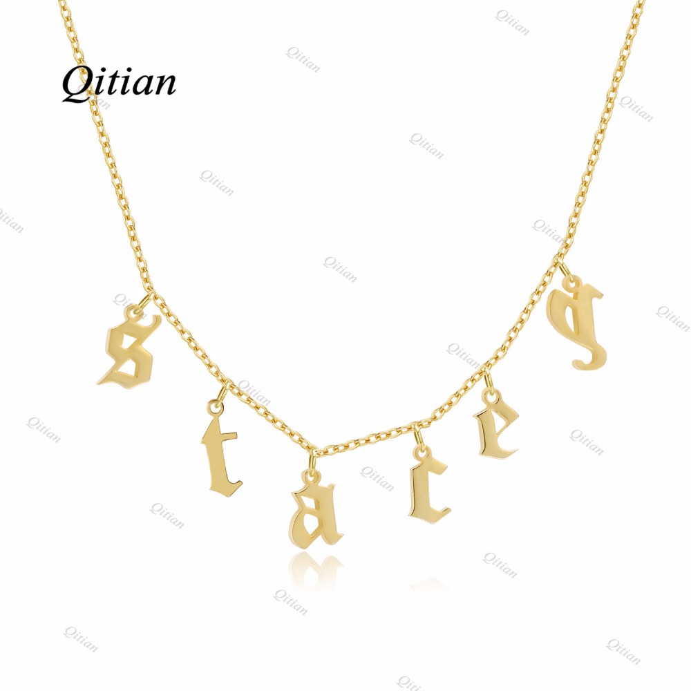 1e601b0dc3453 Old English Choker Personalized Name Necklaces & Pendants Gothic necklace  for Etsy