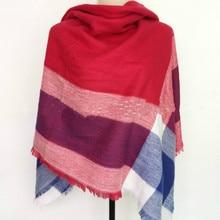 140x140cm winter acrylic cashmere font b tartan b font plaid scarf brand blanket shawl designer pashmina