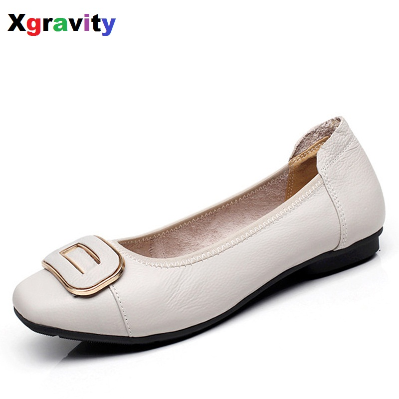 Hot Sales Autumn Soft Woman's Flat Shoes Square Toe Fashion Woman Flats Elegant Comfortable Women's Genuine Leather Flats C017 new listing pointed toe women flats high quality soft leather ladies fashion fashionable comfortable bowknot flat shoes woman