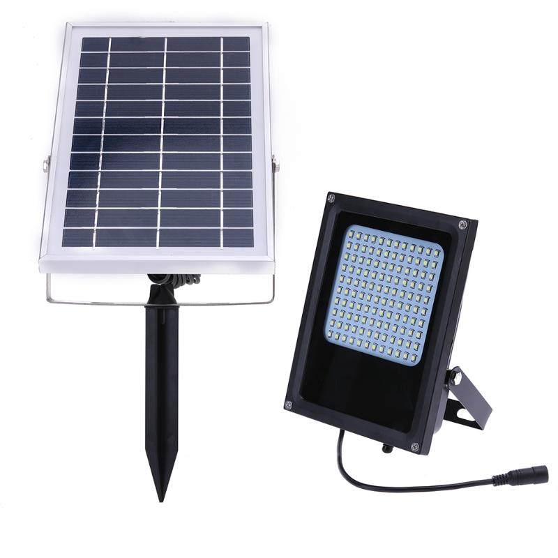 15W 6V Solar Motion Sensor Induction LED Flood Light 120LED Solar Lamp IP65  Solar Powered LED Floodlight ds 360 solar sensor led light black